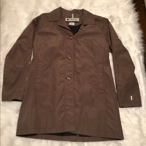 Columbia button up trench coat